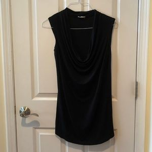 Black Cowl Neck Shirt